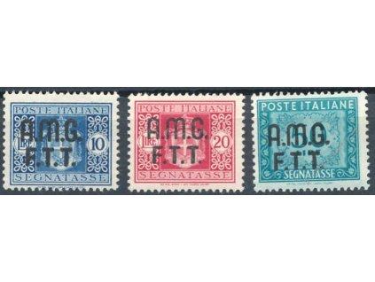 1947, 10, 20 a 50L doplatní, Mi.32Euro, **
