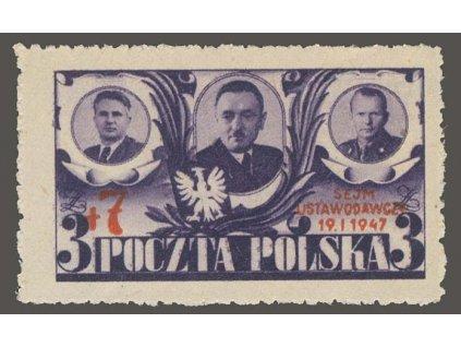 1947, 3Zl + 7Zl Sejm Ustawodawczy, MiNr.451, **