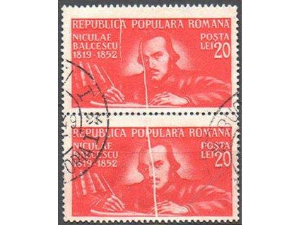 1948, 20L Balcescu, svislá 2páska, razítkovaná