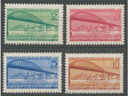 1948, 2-10Din série Konference, MiNr.548-51, **