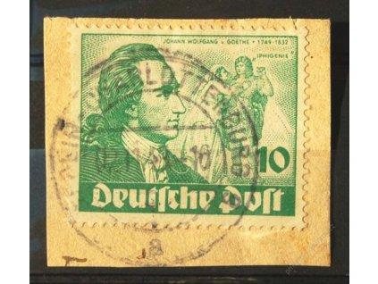 1949, 10Pf Goethe, výstřižek, DR BERLIN, dv, Mi.70Euro, MiNr.61