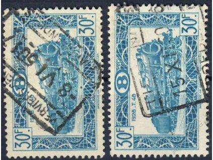 1949, 30Fr Železniční, dvojitý tisk, razítkované