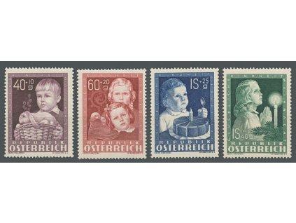 1949, 40g-1.40S série Dětem, MiNr.929-32, **/*