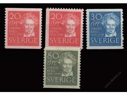 1949, 20-80Ö série Strindberg, MiNr.346-48, **
