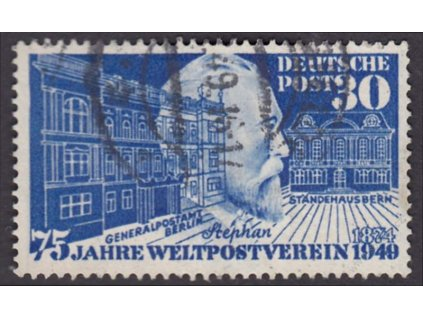 1949, 30Pf Stephan, MiNr.116, razítkované