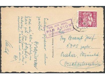 1950, DR Brussel, let. pohlednice