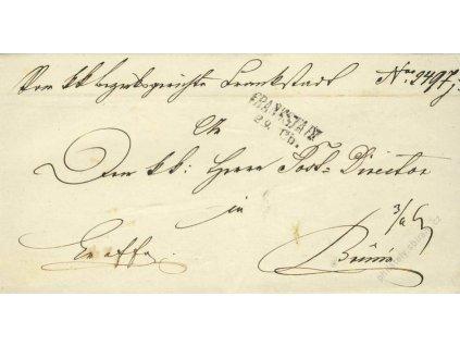 Frankstain, skládaný dopis z roku 1851
