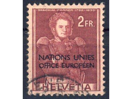 1950, ONU/UNO, 2Fr s přetiskem, MiNr.17, razítkované