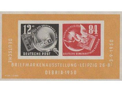 1950, aršík DEBRIA, MiNr.Bl.7, */**