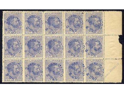Filipíny, 1887, 10blok, MiNr.120, **