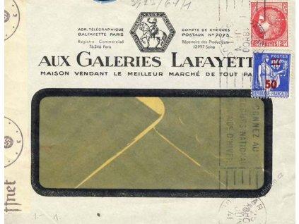 Francie, 1941, DR Paris, firemní dopis, perfiny