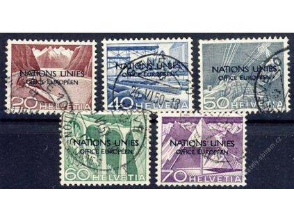 1950, (ONU/UNO), sestava známek, 60Euro, razítko