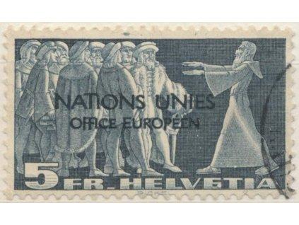 1950, 5Fr (ONU/UNO), MiNr.20, Mi.200Euro, razítko