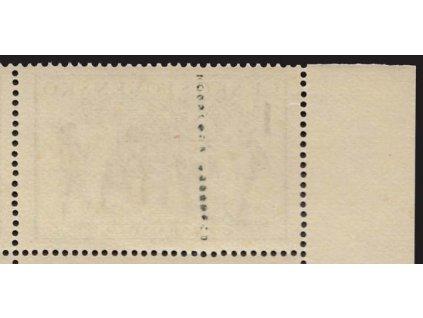 1950, soutisk PRAGA, známková barva 1.50Kčs v perforaci, **