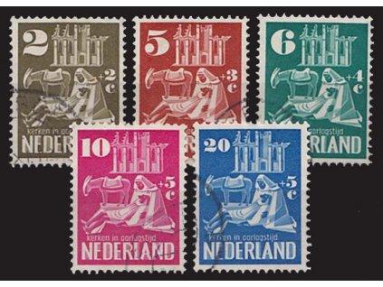1950, 2-20C série Kostel, MiNr.558-62, razítkované