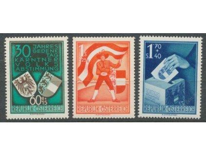 1950, 30g-1.70S série Kärnten, MiNr.952-54, **