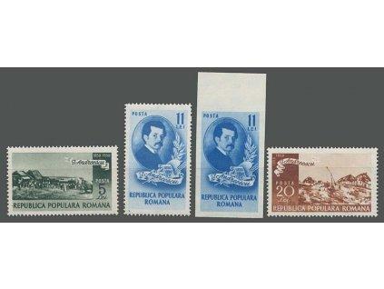 1950, 5-20L série Andreescu, MiNr.1201-4, **