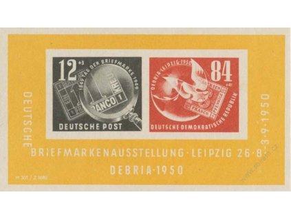 1950, aršík DEBRIA, MiNr.Bl.7, */** , dv