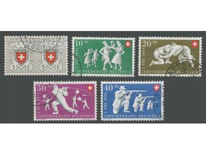 1950, 5-40C série, MiNr.545-49, razítkované
