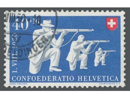 1950, 40C Sportovní střelba, MiNr.549, razítkované