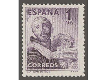 1950, 1Pta San Juan de Dios, MiNr.973, * po nálepce