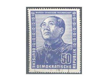 1951, 50Pf Mao Ze Dong, horší jakost, MiNr.288, razítkovaná