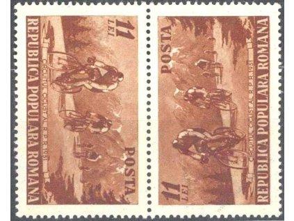 1951, 11L Cyklisti, protichůdná dvojice, **