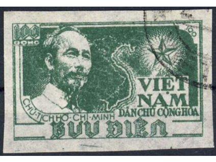 Vietnam, 1951, 100D Ho chi Minh, MiNr.5B, razítko