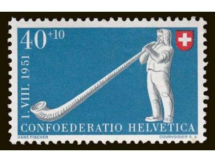 1951, 40C Lidové hry, MiNr.559, **