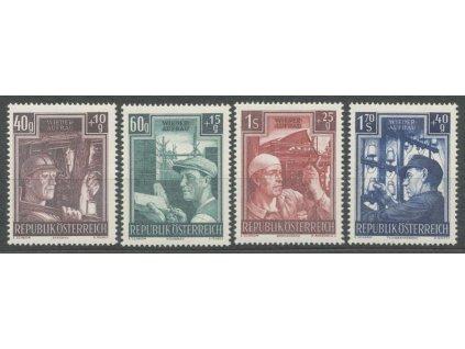 1951, 40g-1.70S série Pracující, MiNr.960-63, **