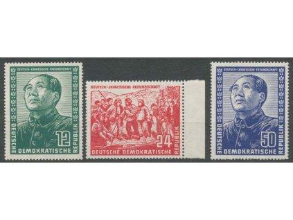 1951, 12-50Pf série Mao Ze Dong, * po nálepce, dv