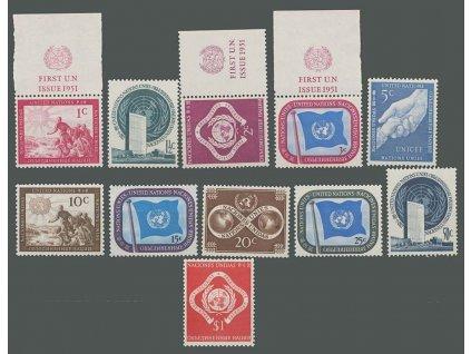 1951, 1C-1Dolar série, MiNr.1-11, **