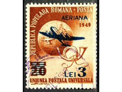 1952, 3L/20L hnědá, dv, MiNr.1365