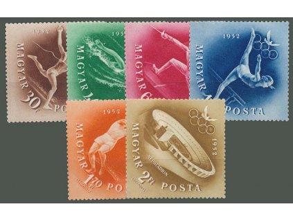 1952, 30f-2Ft série OH Helsinky, MiNr.1247-52, **