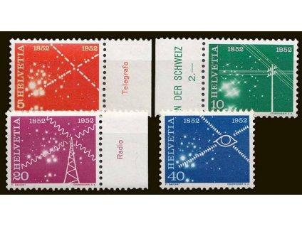 1952, 5-40C série, MiNr.566-69, **