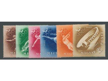 1952, 30f-2Ft série známek Sport, MiNr.1247-52, **