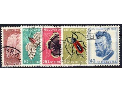 1953, 5-40C série, MiNr.588-92, razítkované