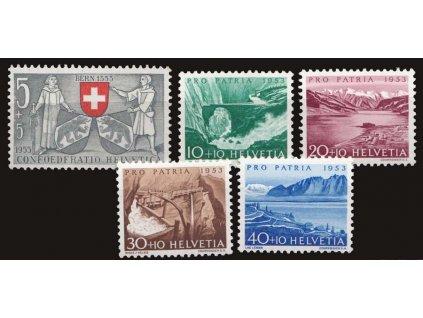 1953, 5-40C série, MiNr.580-84, ** , 10C dv