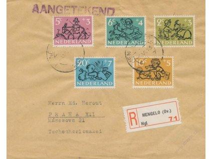 1953, DR Hengelo, R-dopis zasl. do Prahy