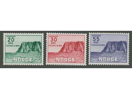 1953, 20-55Q série Nordkap, MiNr.380-82, * po nálepce