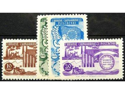 1954, 10-30K série, MiNr.1391-94, **