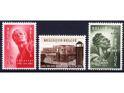 1954, 2-9Fr série Pomník, * po nálepce