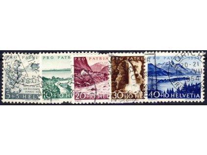1954, 5-40C série, MiNr.597-601, razítkované