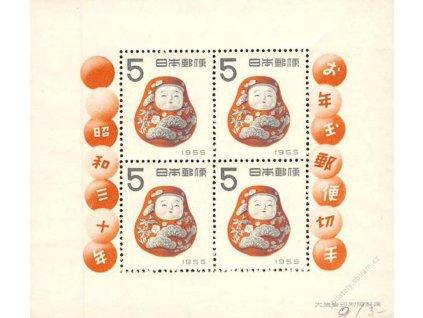Japonsko, 1954, aršík Nový rok, MiNr.Bl.52, **