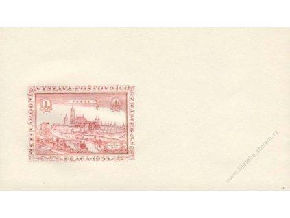 1955, PRAGA, Výstava známek, propagační obálka