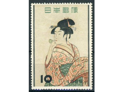 Japonsko, 1955, 10Y Gejša, MiNr.648, **