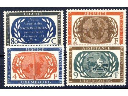 1955, 80C-9Fr série UNO, MiNr.537-40, **