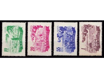 1955, 10B-1L série Zemědělství, MiNr.1539-42, **