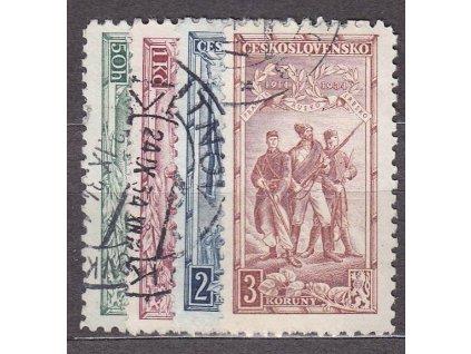 50h-3Kč Vojenské, Nr.276-9, razítkované, ilustrační foto