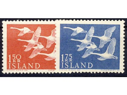 1956, 20-30M série NORDEN, MiNr.465-66, **
